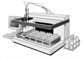 Lab Equipment technical rendering